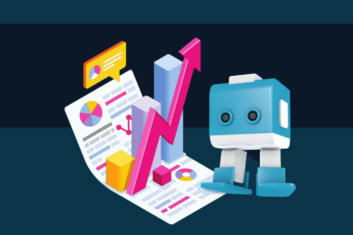 Blauweißer Marketing Bot