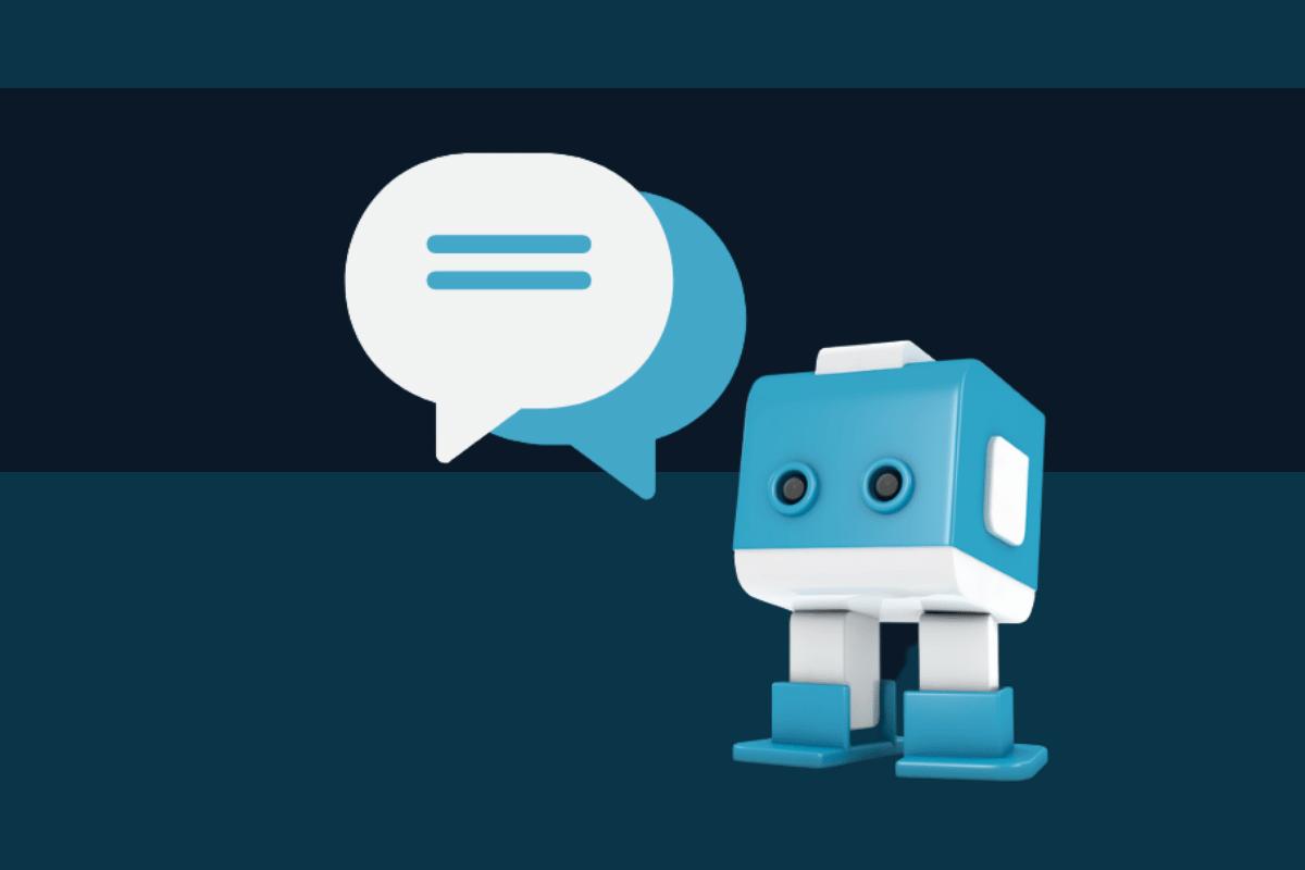 Blauweißer Conversational Ai Bot