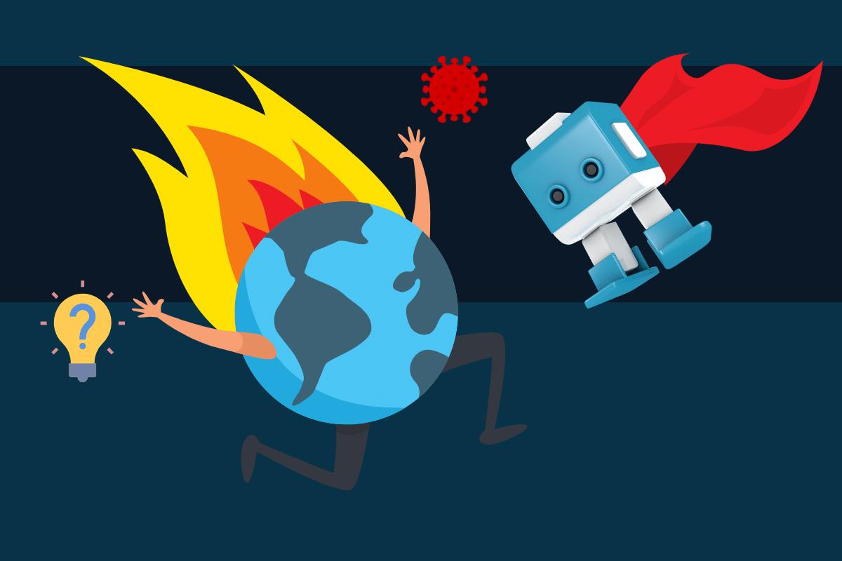 Blauweißer Bot in Krisenzeiten